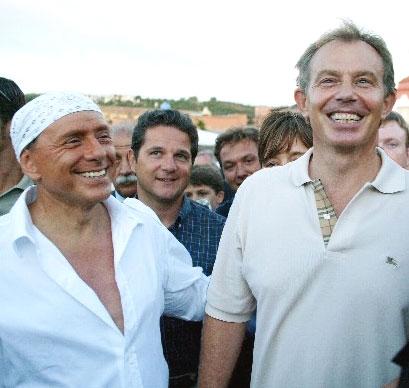 Berlusconi en Blair toen ze nog vrienden waren