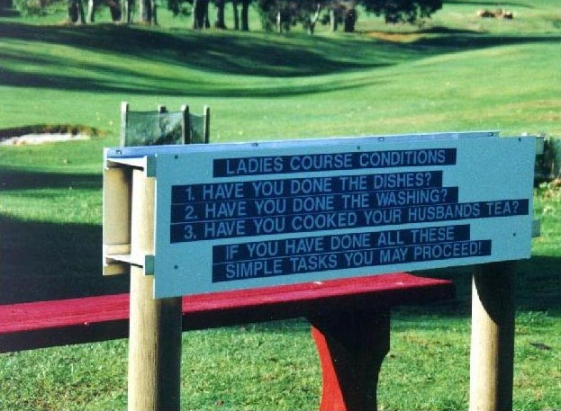Dames mogen nu ook golfen...onder voorwaarden