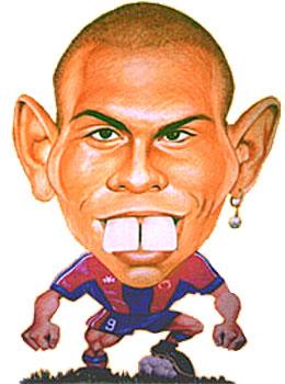 Prachtig spotprentje Ronaldo op jovem.te.pt, tekenaar onbekend